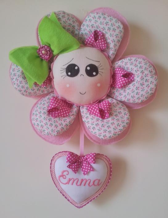 Fiocco nascita fiore Emma