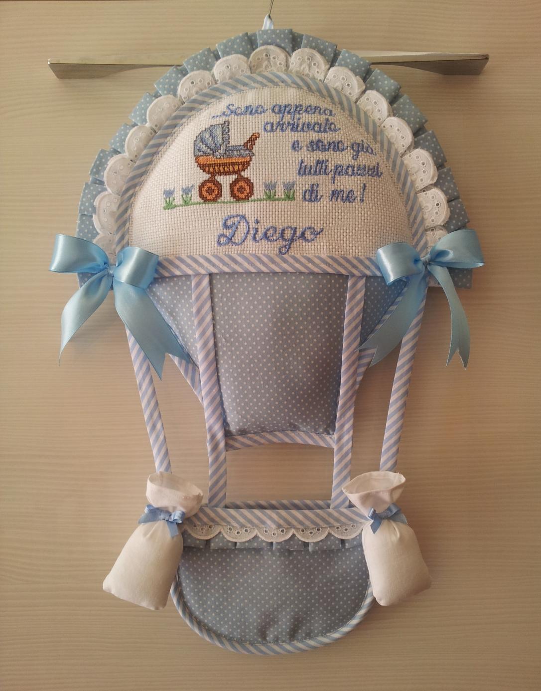 Fiocco nascita Mongolfiera Diego